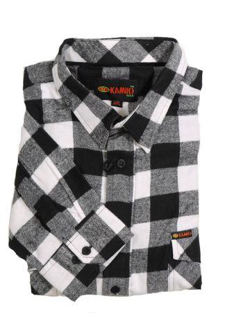 Holzfäller-Langarmhemd von Kamro bis Übergröße 10XL, weiß