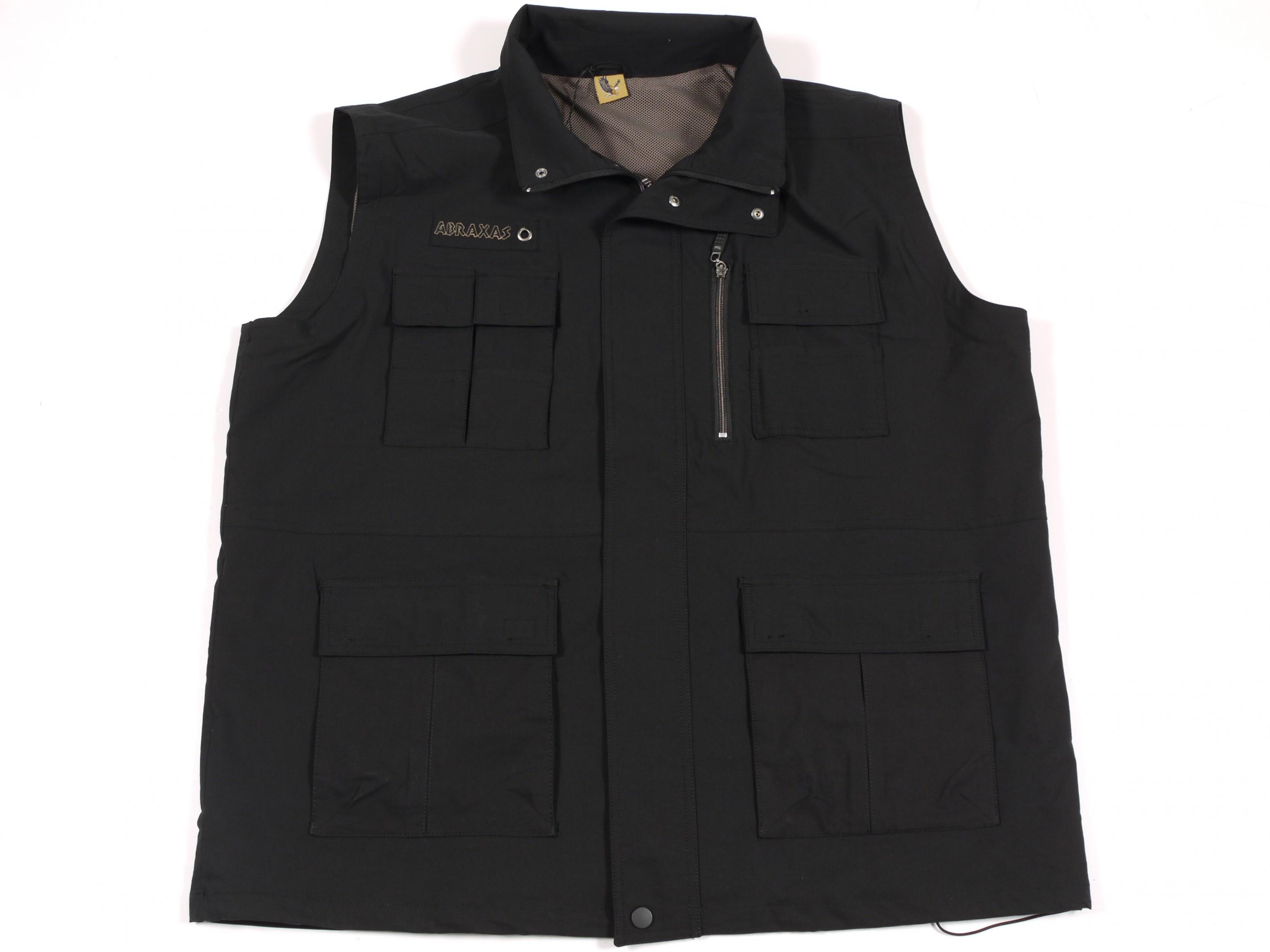 buy online 7d17f 360d2 Outdoor-Weste von Abraxas in Herren - Übergröße, schwarz