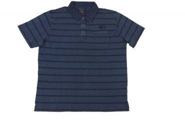Poloshirt mit Knopfleiste von Mode Monte Carlo, denim blue
