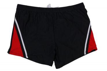 Boxer- Badeshorts von Abraxas in großen Größen bis 8XL, schwarz/rot