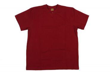 V-Neck T-Shirt von Abraxas in Herren- Übergröße bis 12XL, weinrot