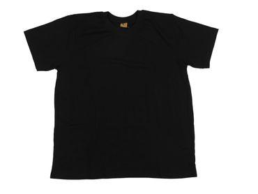 Rundhals T-Shirt von Abraxas in Herren- Übergröße bis 12XL, schwarz