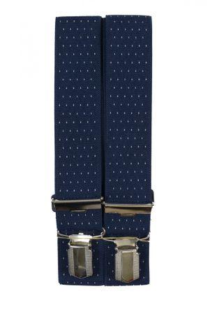4-Clip Hosenträger von Spiecker in blau
