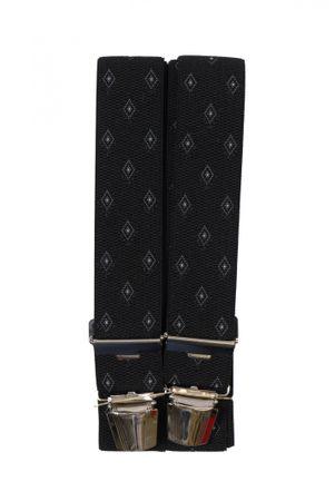 4-Clip Hosenträger von Spiecker in schwarz