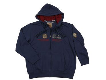 Kapuzen Sweat-Jacke mit Stick von Redfield, navy