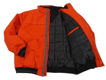 Gefütterte Winterjacke von Allsize in Herren- Übergröße, orange – Bild 2