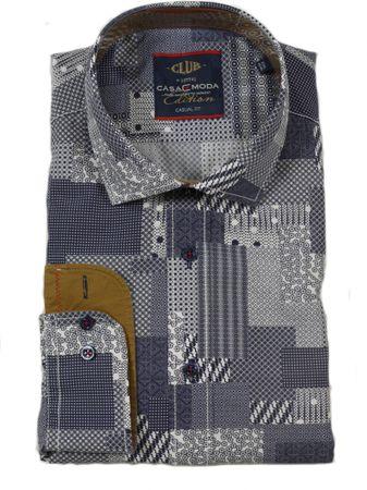 Extravagantes Langarmhemd von Casa Moda mit modischem Minimal-Print