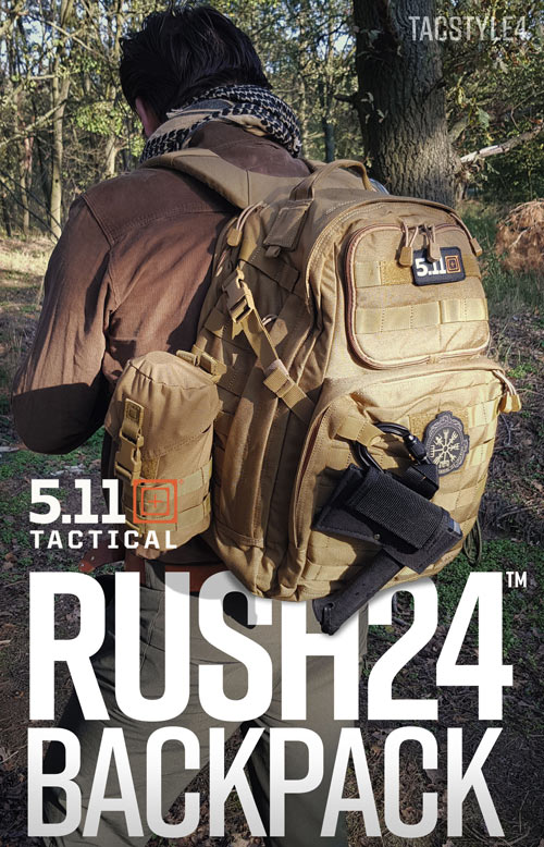5.11 Tactical Rush24™ Backpack 37L - 24 Std. Rucksack Content