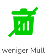 Weniger Müll Icon