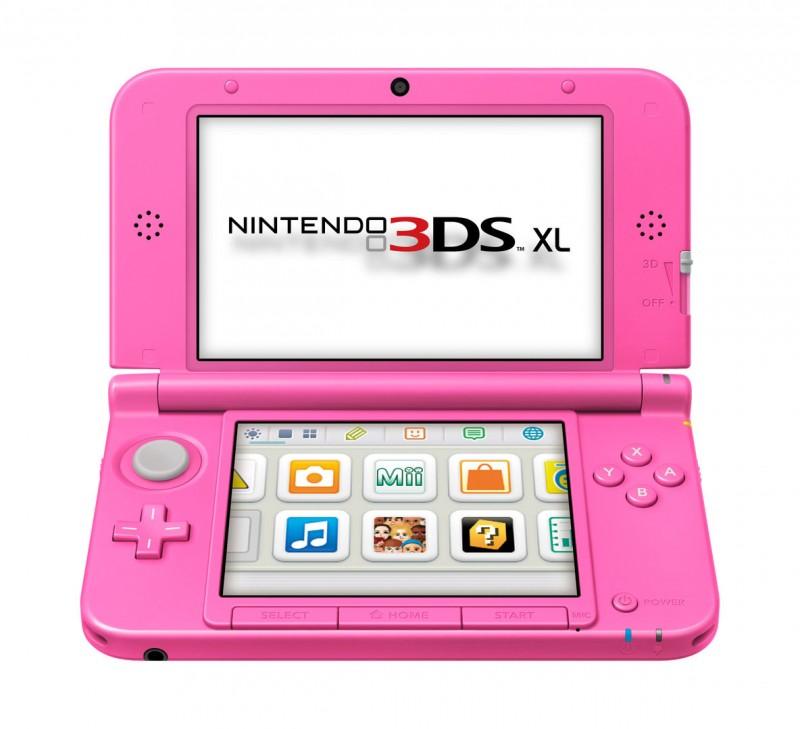 Nintendo 3DS - Konsole XL #pink / rosa + Netzteil