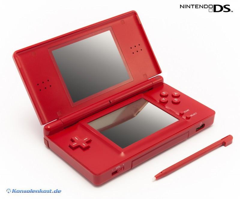 Nintendo DS Lite - Konsole #rot + Netzteil