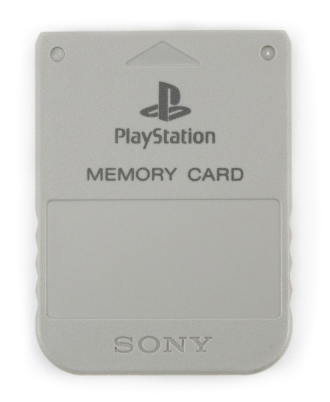 PS1 - Original Sony Memory Card / Speicherkarte #grau / SCPH-1020