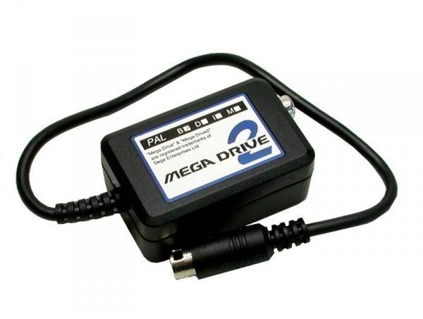 Mega Drive - MD 2 RF Modulator / Adapter für den Anschluss eines Standard Antennenkabel an den MD2