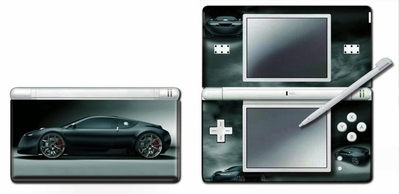 Nintendo DS - NDS Lite - Modding Skin [Black Car]