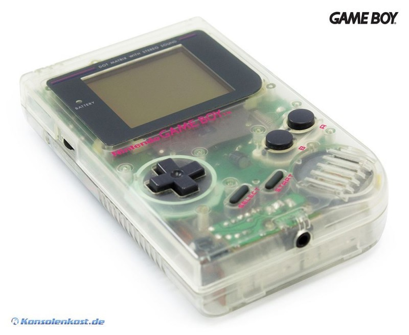 GameBoy - Konsole #transparent - Hip Boy grau Classic 1989 DMG-01