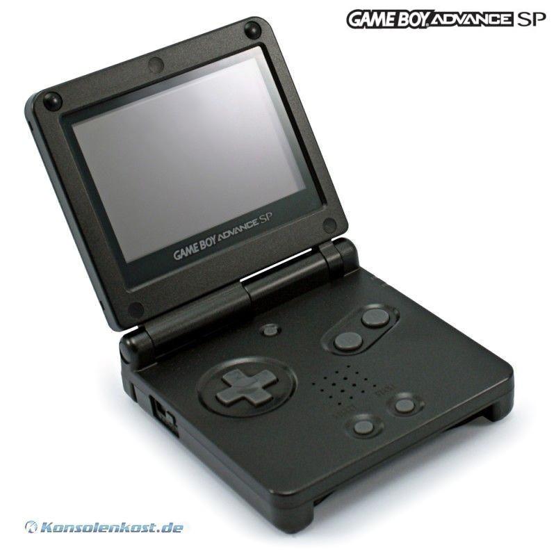 GameBoy Advance - Konsole GBA SP #schwarz + Netzteil