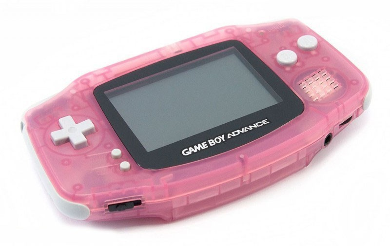 GameBoy Advance - Konsole #pink - rosa / Clear Red
