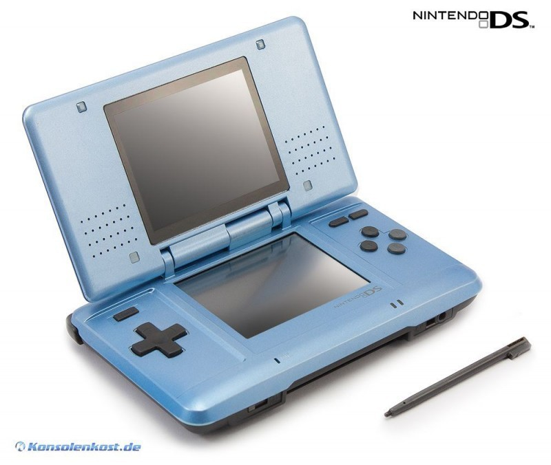 Nintendo DS - Konsole #hellblau + Netzteil