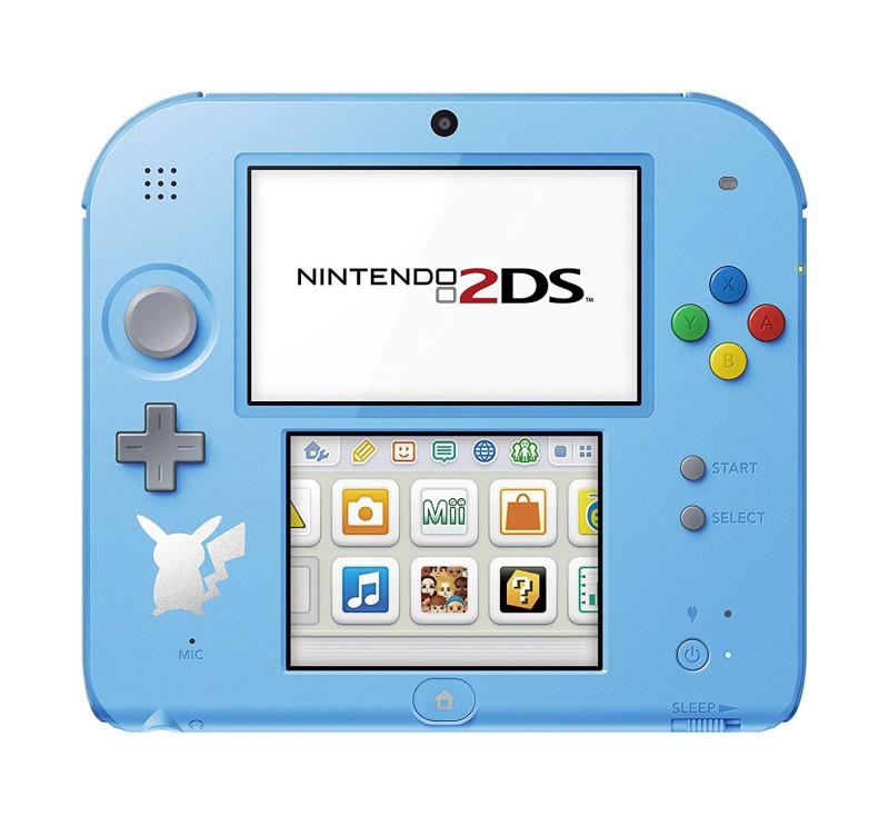 Nintendo 2DS - Konsole #hellblau + Netzteil