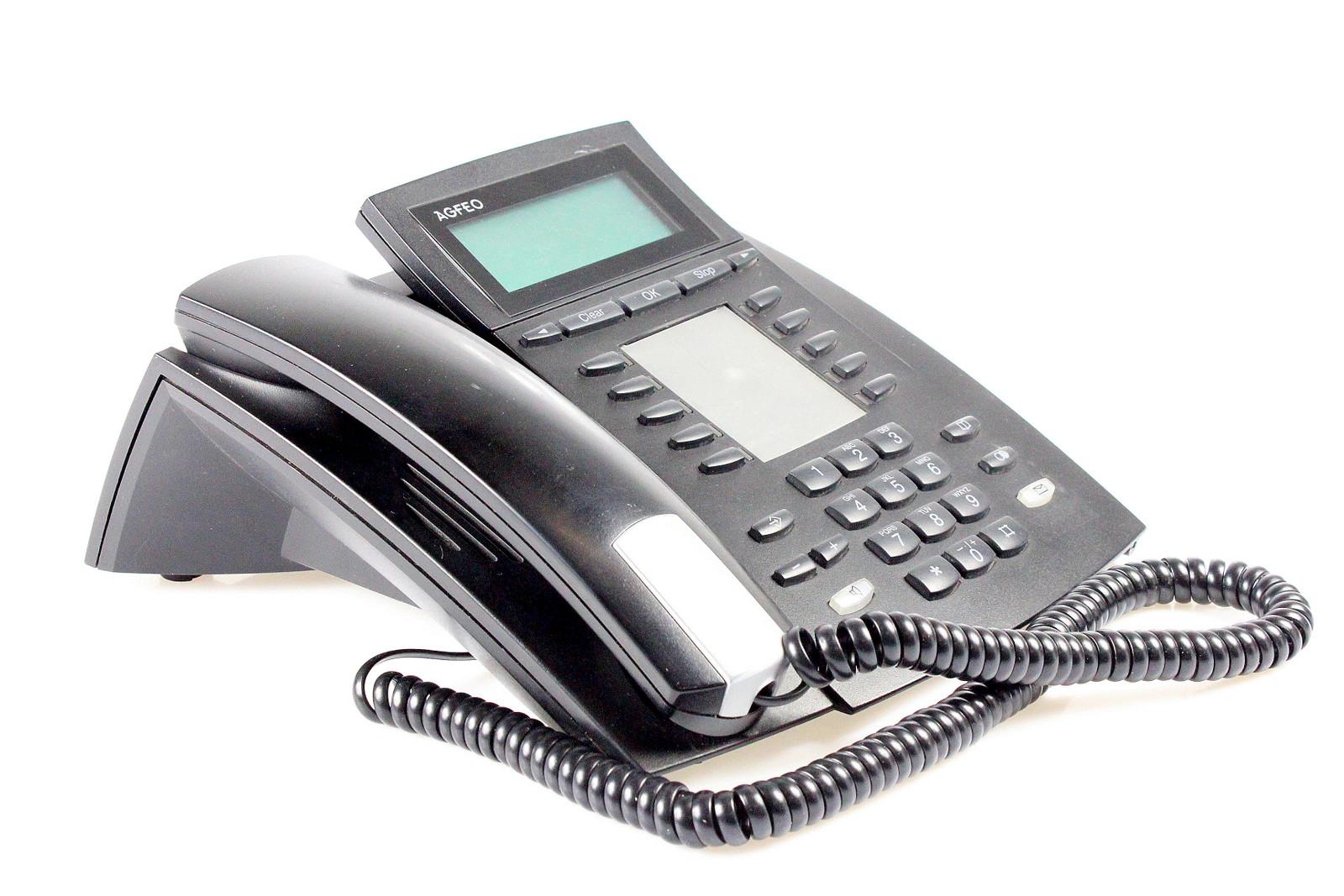 S0 Systemtelefon schwarz // inkl MwSt. Agfeo ST 40