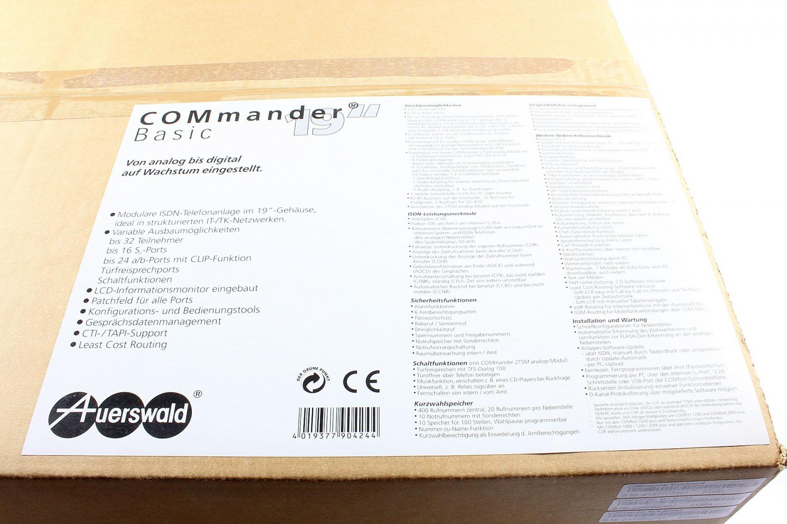 """Auerswald COMmander 8a//b-Modul mit 19/"""" Adapter 8 a//b MwSt. inkl"""
