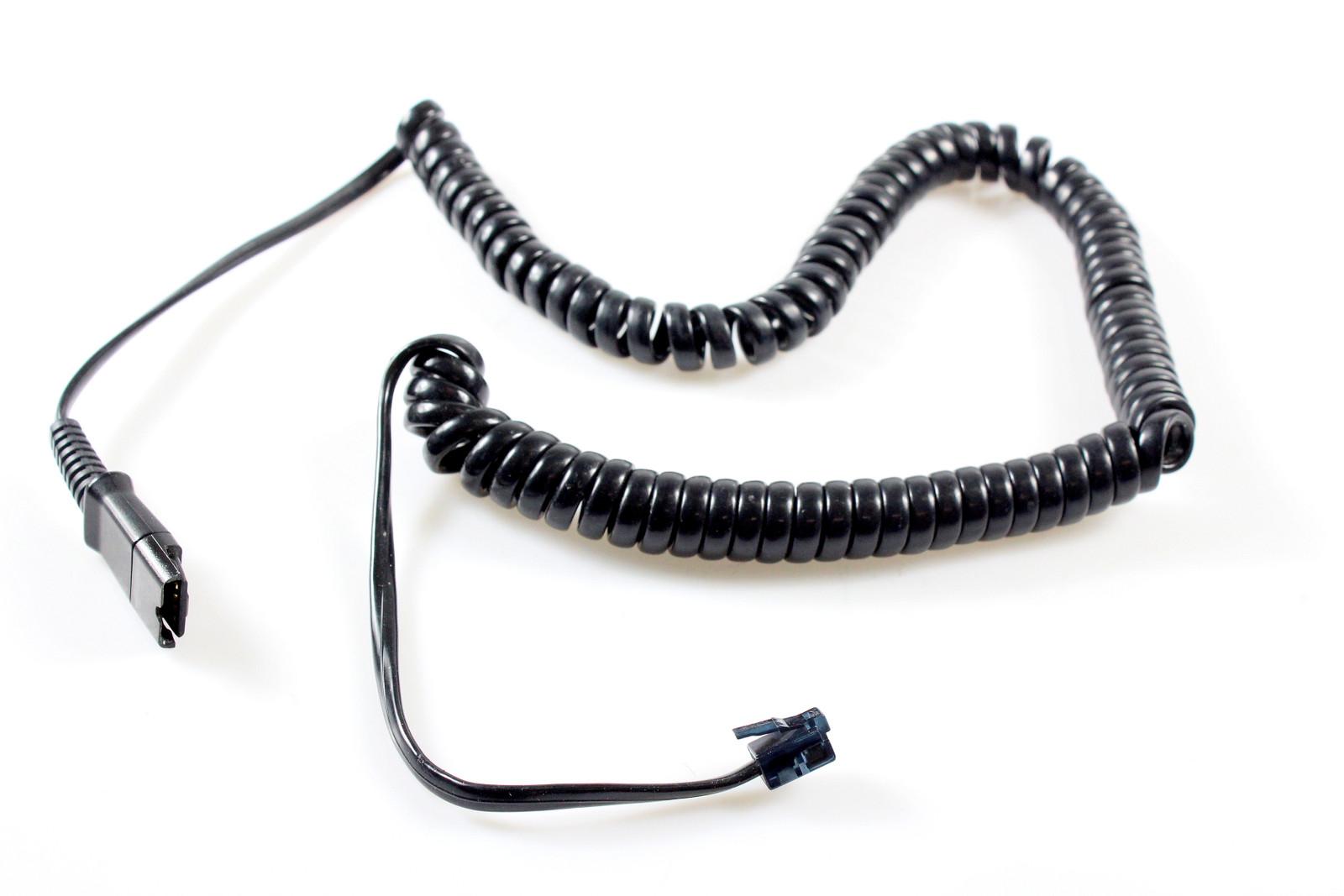 oder auch RJ9 // RJ22 2x Quick Disconnect Headset Spiralkabel  QD auf RJ10