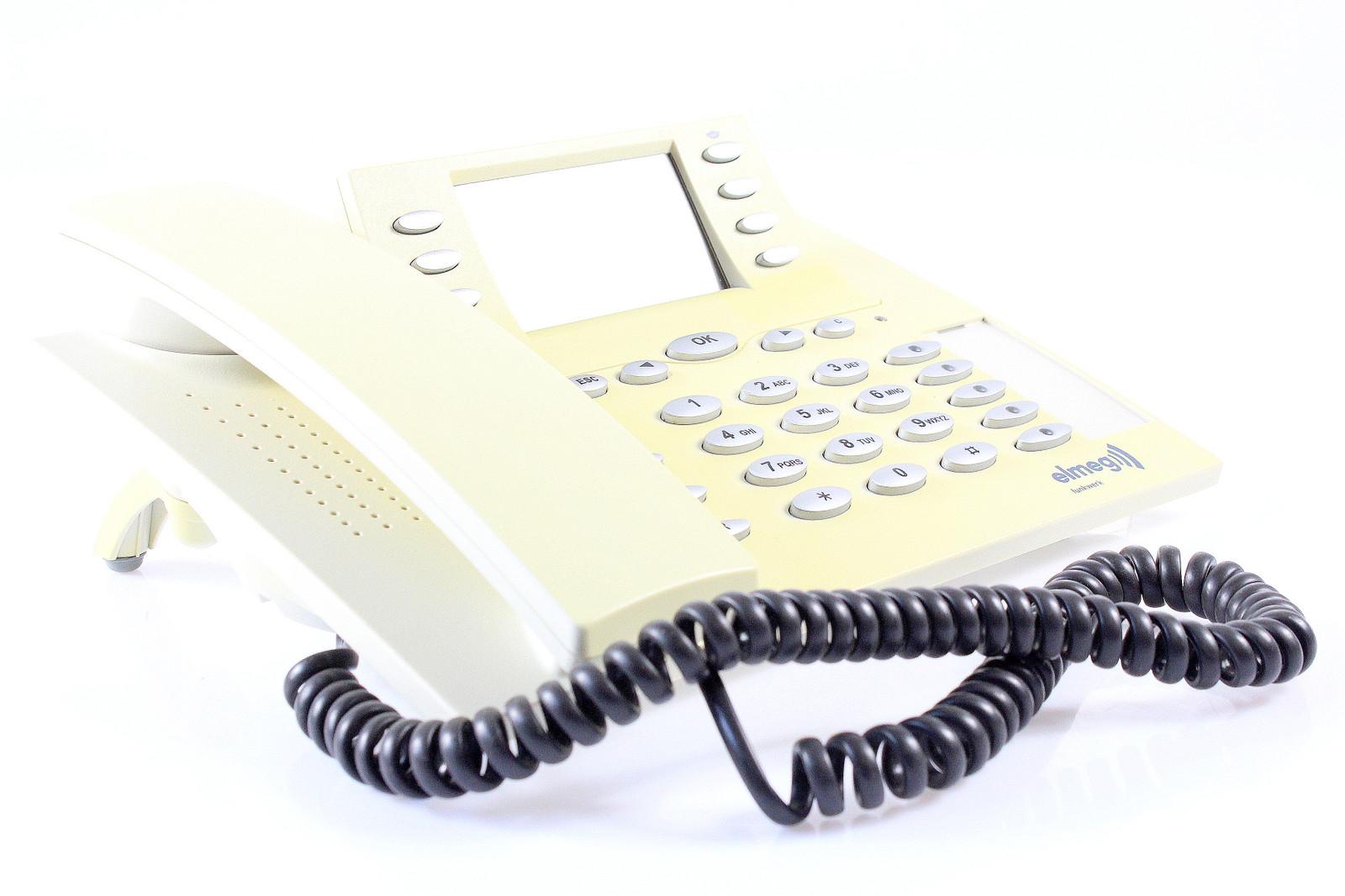 inkl Elmeg CS410 ISDN-System-Telefon schwarz MwSt
