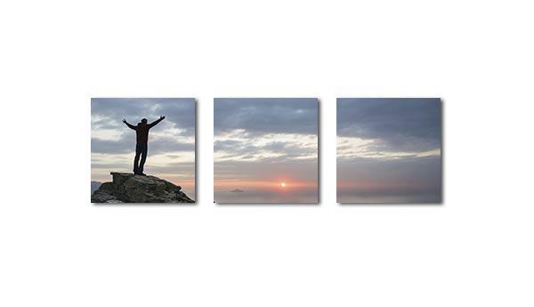 Foto-Mehrteiler aus 3 Elementen