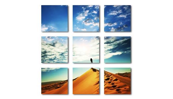 Foto-Mehrteiler aus 9 Elementen