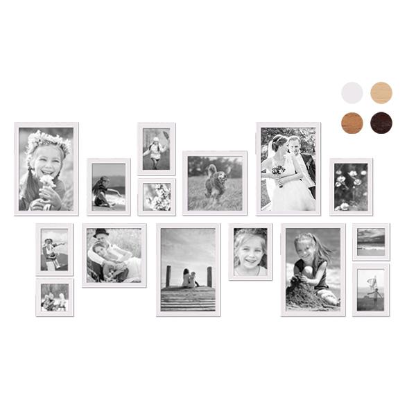 15er Bilderrahmen-Set mit Fotos Landhaus