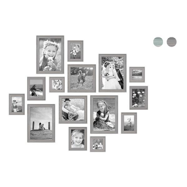 15er Bilderrahmen-Set mit Fotos Skandinavisch