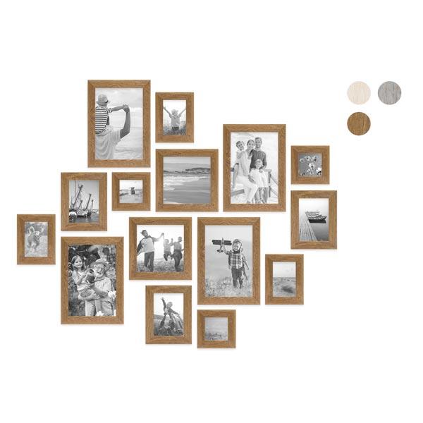 15er Bilderrahmen-Set mit Fotos Strandhaus