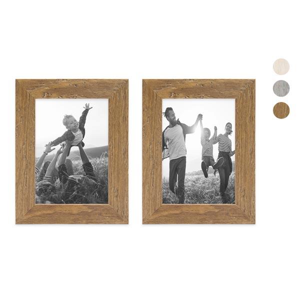 2er Bilderrahmen-Set mit Fotos Strandhaus