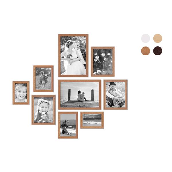 9er Bilderrahmen-Set mit Fotos Landhaus