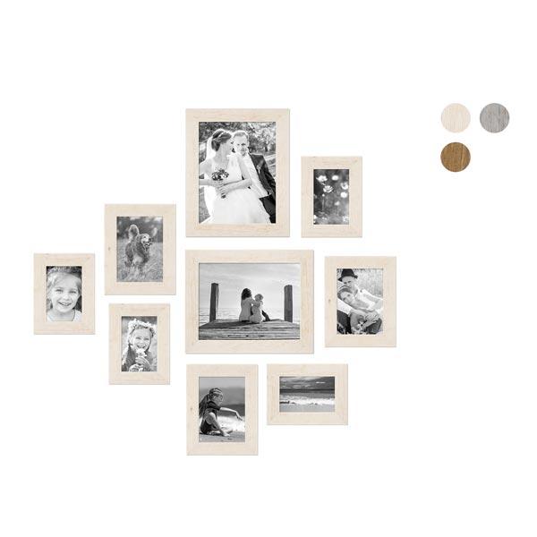 9er Bilderrahmen-Set mit Fotos Strandhaus