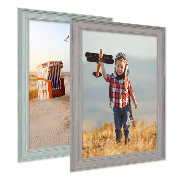 15er Bilderrahmen-Set mit Fotos Skandinavisch Farbauswahl