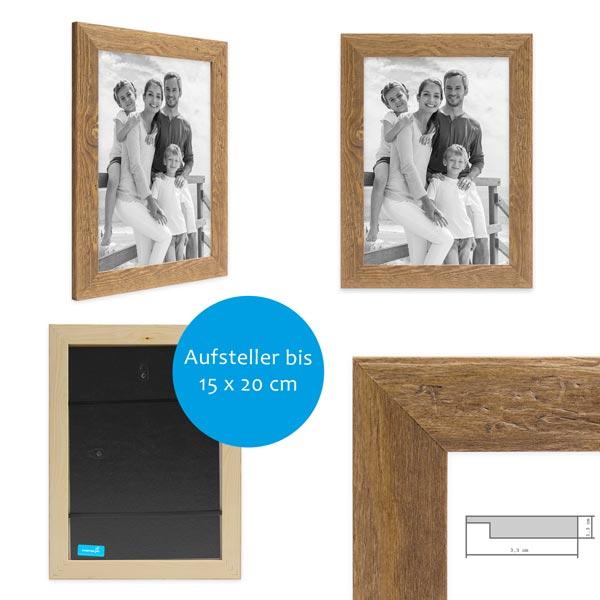 15er Bilderrahmen-Set mit Fotos Strandhaus Detail