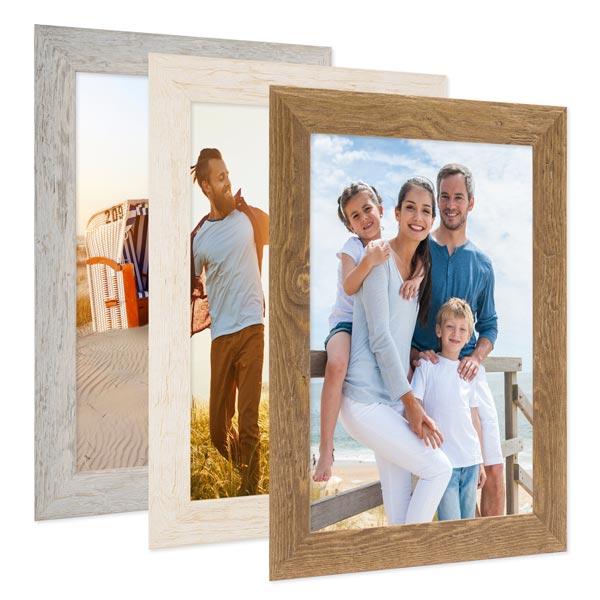 15er Bilderrahmen-Set mit Fotos Strandhaus Farbauswahl