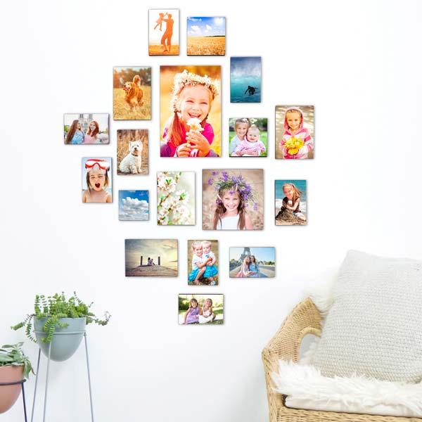 magnet-fotowand beispiel mit farbigen bildern