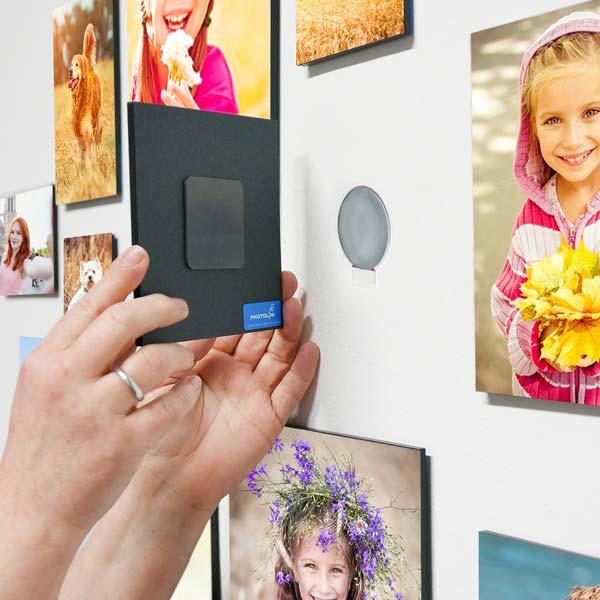 magnet-fotowand fotoelemente anbringen
