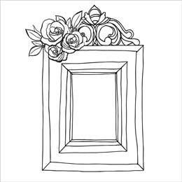 Ausmalbilder zum Ausdrucken Bilderrahmenvorlage Blumen