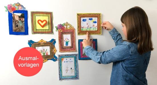 Ausmalbilder zum Ausdrucken an der Wand