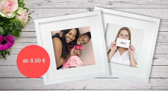 Muttertagsgeschenk Objektrahmen in weiss