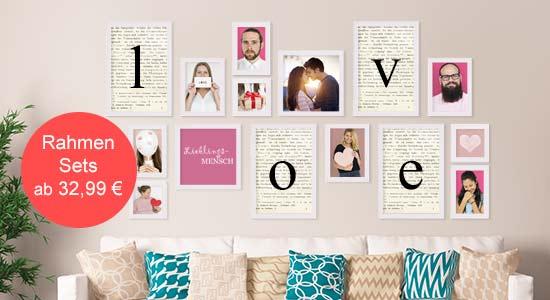 Valentinstagsgeschenke Bilderrahmen-Set weiss