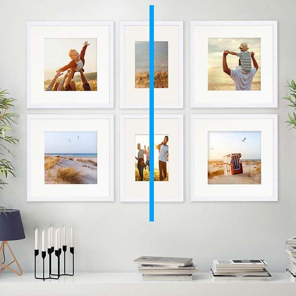 E-Paper Wandgestaltung Symmetrische Hängung