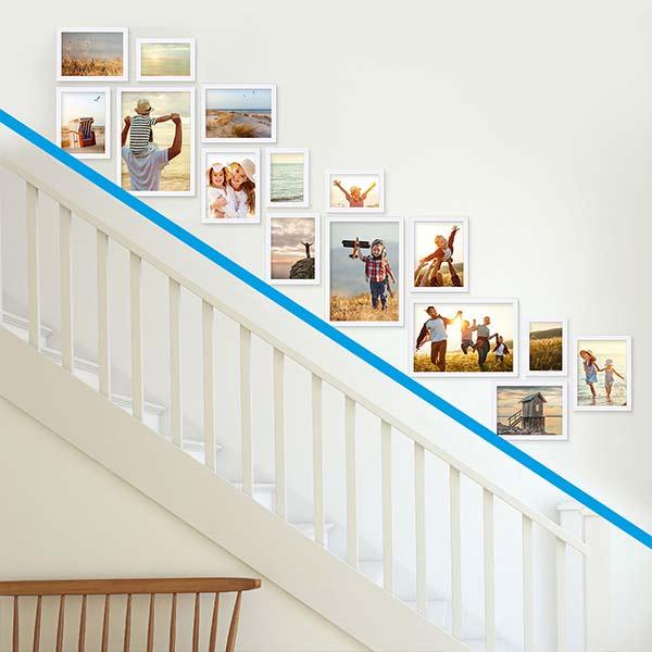 E-Paper Wandgestaltung Treppenhängung