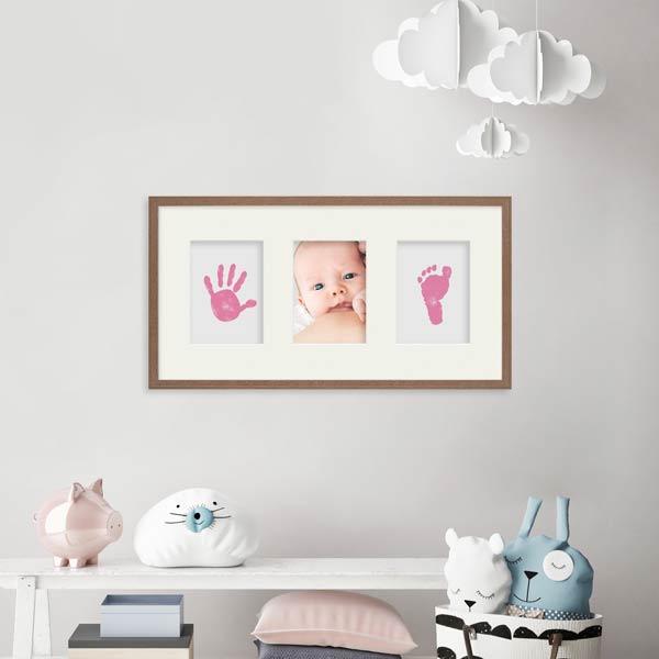 Baby-Bilderrahmen mit Abdrücken