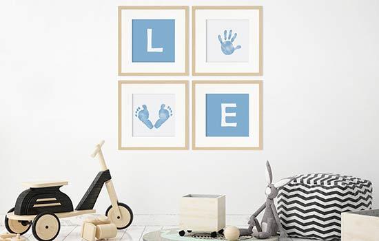 Baby-Bilderrahmen als 4er Set
