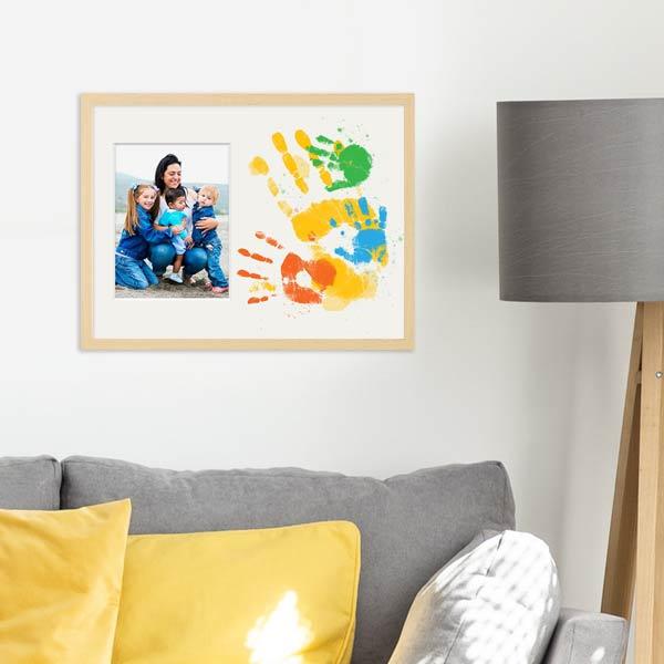 Bilderrahmen für Familienfotos mit Handabdrücken