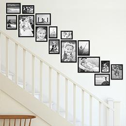 Treppenhaus gestalten mit Bilderrahmen
